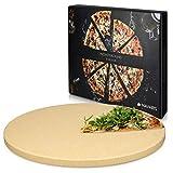 Navaris Pizzastein XL für Backofen Grill aus Cordierit...