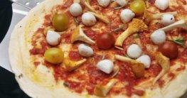 Pizzastein direkt auf Grillrost